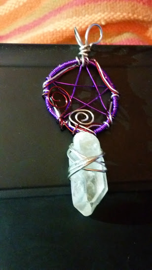 wire wrapped pentacle