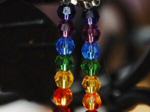 chakra healing hands earrings