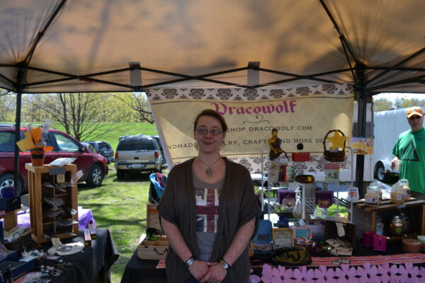 Lindsay and Dracowolf at Cherry blossom Fest 2013