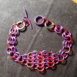 pink chainmail bracelet