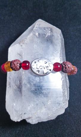 lava rock love bracelet