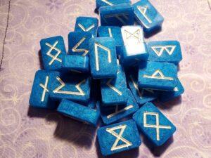 blue futhark rune set
