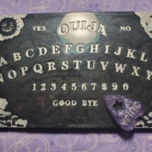 black mini-ouija spirit board