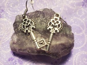 Hekates key earrings