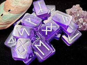 purple futhark rune set