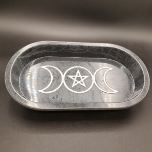 Black Triple Moon oblong tray