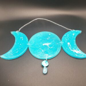 blue triple moon wall hanging