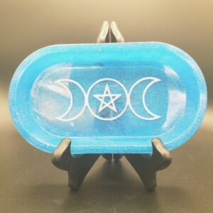 Ocean Blue Triple Moon oblong tray