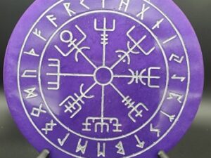 Purple Runic Vegvisir wallhanging