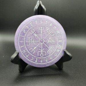 lavender Mini Runic Vegvisir wallhanging