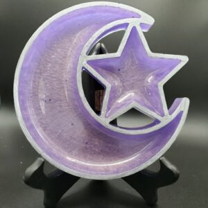 Lavender moon and star tray