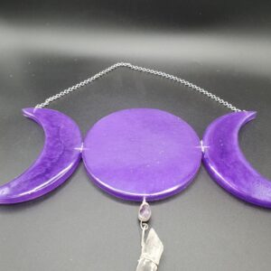 Purple Triple Moon Suncatcher