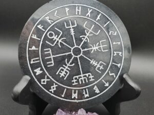black and silver Mini Runic Vegvisir board