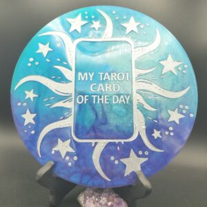 Blue and purple Tarot Card of the Day board