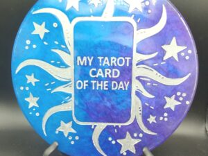 Blue and purple tarot of the day wall hanging