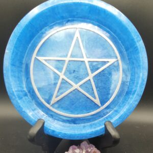 Blue pentacle round tray