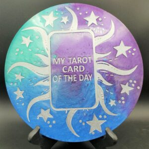 Teal, Blue and purple Tarot Card of the Day board