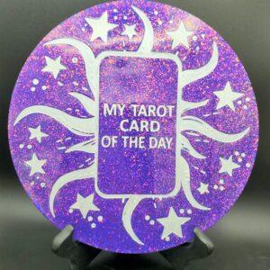 Purple Glitter Tarot Card of the Day Wall hanging