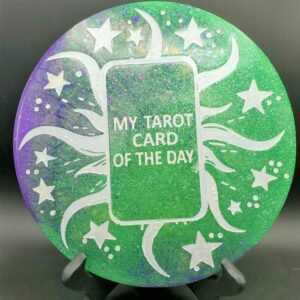 Green and Purple Tarot Card of the Day Wall hanging