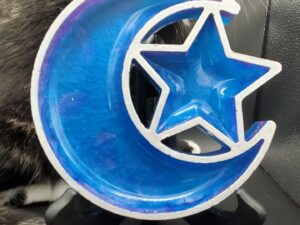purple and blue moon and star bowl