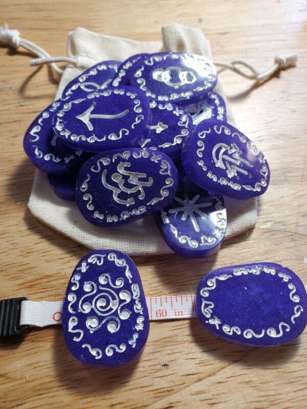 purple witches runes