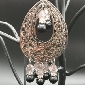 large oval filigree earrings