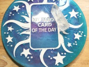 Blue and Teal Tarot Card of the Day board