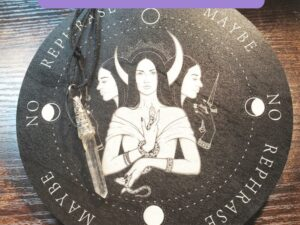Assorted Pendulum boards are reversible. Each one has the image in black on white on one side AND white on black on the other side. Each one is 6 inches in diameter. Made from lightweight wood. Use the drop down to the right to select and see your preferred design.