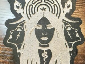 Triple moon, Triple goddess Hekate altar piece