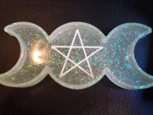 Glow in the dark glitter Triple Moon Tray